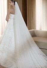 Cathedral length Wedding Veil Full width