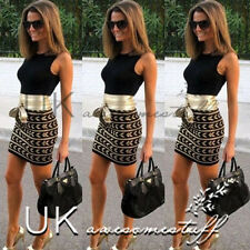 UK Womens Sexy Dress Ladies Bodycon Cocktail Party Evening Dress Size 6 -  14