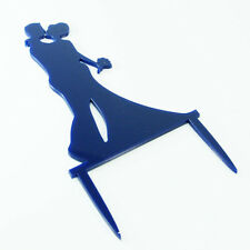 Couple Silhouette Proposal Wedding Engagement Cake Topper Mirror Acrylic