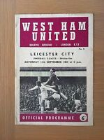 WEST HAM UNITED V LEICESTER CITY 1965-66