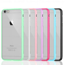 Silicone Bumper + Hard Back Case Cover For iPhone 5 5S 4 6 FREE Screen Protector