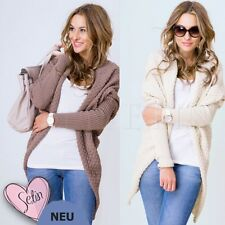 Neu Damen Sweatshirt Pullover Cardigan Sweat Strickjacke Longshirt EU Qualität!