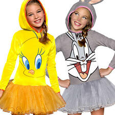 Cartoon Character Girls Fancy Dress Looney Tunes Kids Childs Book Costume Outfit