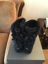 UGG Australia Short Bailey Bow Black Boots