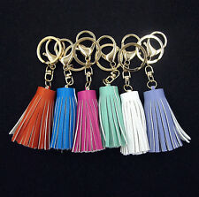Handmade Synthetic Leather Tassel Pendant Mobile/Bag Key Chains Bag Accessories