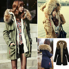 NEW Women Thick Winter Fashion Fur Collar Warm Down Cotton Thick Coat Jacket