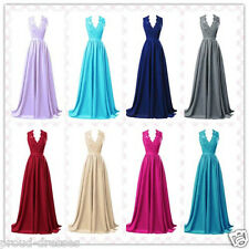 Long Chiffon Bridesmaid Formal Gown Ball Party Cocktail Evening Prom Dress