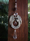 Suncatcher Prayer Twin Protection Guardian Angel Heaven Crystal Pewter