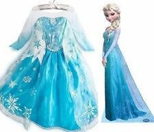 FROZEN ELSA ANNA PRINCESS DRESS KIDS COSTUME PARTY FANCY SNOW QUEEN DRESS