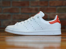 Mens Adidas Stan Smith Originals Classic Sneakers New, White / Red M20326