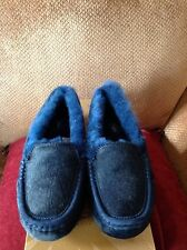 Ugg Australia Ansley Exotic Moccasin Slippers Midnight Blue, Women's