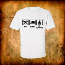 Eat Sleep RC Helicopter quality cotton t shirt great gift christmas rc flying