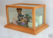 Display Case for Crystal Miniature Collectibles Trinket Boxes Figurine CD-HW02
