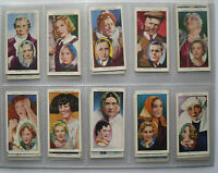 1938 Ogden's cigarette cards Actors Natural & Character Studies - set in vinyl