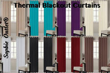 Ring Top Blackout Curtain Pair Of Thermal Curtain Window Curtains 66x72 & 90x90
