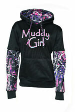 Muddy Girls Womens Black Camo Sweatshirt Hoodie Pink Purple Camo MGPOCSB 304102