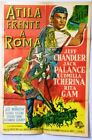 Attila Sign of the Pagan Argentinean Movie Poster 50s