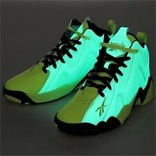 Reebok Kamikaze Mid II Glow in the Dark Sneakers Retro Basketball Shoes NEW