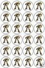 24 TRANSFORMERS EDIBLE PARTY CUPCAKE CAKE IMAGE TOPPERS