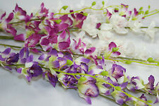 100 cm Artificial Thailand Orchid - 3 Stems Silk Flower Spray - Mix Colours