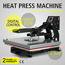 """16""""X20"""" HEAT PRESS TRANSFER 40X50 LCD TIMER MAGNETIC STABLE SIMPLE TO HANDLE"""