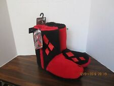 Harley Quinn Slipper Boots Womens Adult Sizes DC Comics New With Tags