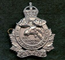 "WW2 Canada ""Algonquin Regiment"" Cap Badge 50 mm x 43 mm"