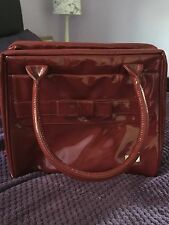 Large Patent Red Antler Bag With Bow Detail