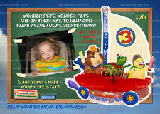 Wonder Pets Invitation, Wonder Pets Party, Wonder Pets Birthday Invite