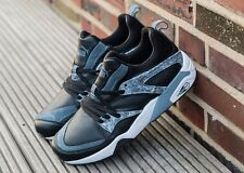 Puma Blaze Of Glory Marble Mens Trinomic Trainers Leather Black Boots New