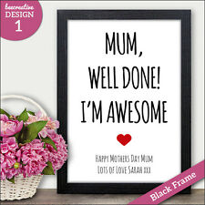 Mothers Day Gifts - PERSONALISED Mothers Day Gifts Cards Presents Mum Mummy