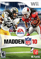 Madden NFL 10 (Nintendo Wii, 2009) w/ case and manual