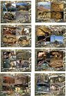 PREHISTORIC LIFE DINOSAURS 2012 FOSSILS 8 SOUVENIR SHEETS MNH IMPERFORATED