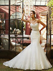 2016 New White/Ivory A-Line Wedding dress Bridal Gown Custom Size6-8-10-12-14-16