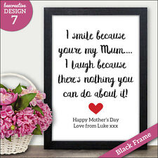 Personalised Mothers Day Gifts and Presents for Mum Mummy Nan Nanny Gran Granny