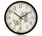 European Retro Rural Quartz Mute Living Room/Bedroom/Study 12-inch Wall Clock