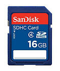 GENUINE 16GB SanDisk SD SDHC MEMORY CARD CLASS 4 For Digital Cameras & Camcorder