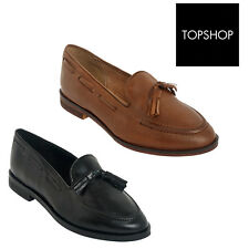 Designer TopShop Womens Ladies Leather Low heel Loafer casual office wear shoes