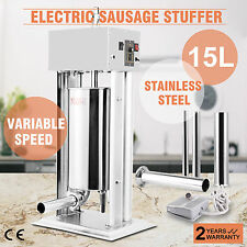 Commercial Electric Sausage Filler Stuffer Maker Press Machine 15L Meat Shop