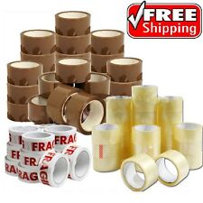 STRONG PACKING PARCEL TAPE-BROWN-CLEAR-FRAGILE48mm x 66M Rolls PARCEL TAPE CHEAP