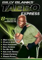 BILLY BLANKS TAE BO EXPRESS EXERCISE DVD NEW 8 MINI WORKOUTS TAEBO KICKBOXING