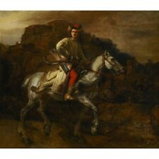 1655 Rembrandt The Polish Rider De Poolse Ruiter Horse Art Painting New Poster