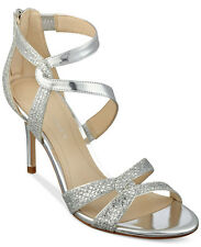 Marc Fisher Lexcie Silver Dress Sandals Heels Shoes 9 NWB $89