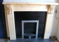 SOLID PINE TRADITIONAL STYLE CORBELLED SURROUND ....