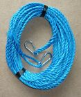 70FT OF NEW 10MM ROPE ANCHOR BOAT MOORING WITH 10MM SNAP HOOKS BOTH ENDS a