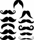 11 Funny Mustache Moustache vinyl decal sticker perfect 4 cell phone any 1 Color