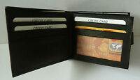 MENS GENTS NEW HIGH QUALITY LUXURY SOFT BLACK LEATHER WALLET