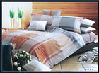 New Cotton Long King/Queen Quilt Cover Set 210 x 240cm Pack Grid