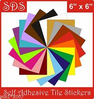 """Tile transfers stickers 6"""" self adhesive packs of  5,  LOTS OF GREAT COLOURS"""