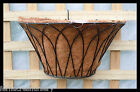 "FAON FERN/Orchid Garden Wall wire Hanging Basket 14"" ,Powder coated with coir."